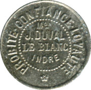 5 Centimes - Maison J. Duval - Le Blanc [36] -  obverse
