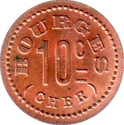 10 Centimes - Bourges 18 – reverse