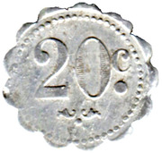 20 Centimes - Cantine Bertrand - Mailly-le-Camp [10] – reverse