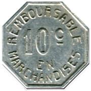 10 Centimes - Coopérative Militaire - Pau [64] – reverse