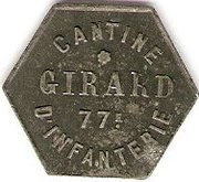 25 Centimes - Cantine Girard - 77e d'Infanterie - CHOLET [49] – obverse