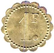 1 Franc - Cercle des Sous officiers 311e RALP - Luçon [85] – reverse