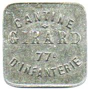 5 Francs - Cantine Girard 77ème d'Infanterie (Cholet) – obverse