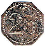 25 Centimes - 4éme Lon de GRM (Neufchateau) – reverse