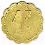 1 Franc - 162° Régiment d'Infanterie - Cercle des sous-officiers – reverse