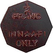 ½ Franc - NAAFI – reverse