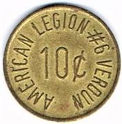 10 Cents - American Legion (Verdun) – reverse