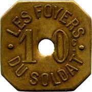 10 Centimes -Foyer du Soldat - Rennes (35) – obverse