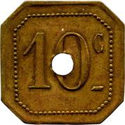 10 Centimes -Foyer du Soldat - Rennes (35) – reverse