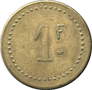 1 Franc - Cantine Militaire Caillat – reverse
