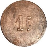 1 Franc - Cercle-mess des Sous officiers 31e RAO – reverse