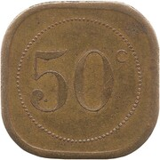 50 Centimes - Cantine Militaire (Revigny) – reverse