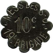 10 Centimes - Mess des Sous-Officiers - 19e Brigade – obverse