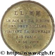 Visiting coin (Module 5 francs) – reverse