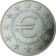 Token - FFAN 25th Anniversary (Module 100 Francs) – reverse