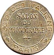 Phonograph Token - Salon du Phonographe (Paris) -  obverse