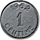 1 Centime (Play money) -  obverse