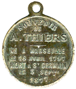 Medallion - A. Thiers – reverse