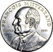 Token - Political leaders in the World (François Mitterrand) – obverse