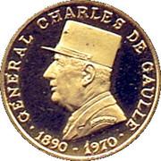 Token - Général Charles de Gaulle – obverse
