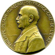 Medal - Philippe Petain – obverse