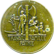 Medal - Philippe Petain – reverse