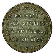 Token - Napoléon III (Concours musical - La Ferté-Alais) – reverse