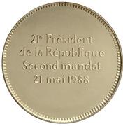 Medal - François Mitterrand - Second mandat – reverse
