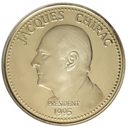 Token - Jacques Chirac (Presidential Elections of 7 May 1995) – obverse