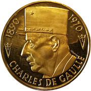 Medal - Charles De Gaulle - Anniversary – obverse