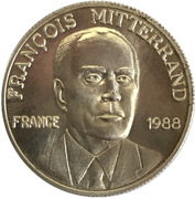 Token - Elections présidentielles de mai 1988 - Mitterrand – obverse