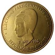 Token - Elections Présidentielles de la République française (Jacques Chirac) – reverse