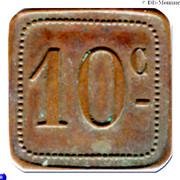 10 Centimes - Dépot de Prisonniers de Sédières (Clergoux) – reverse