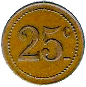 25 Centimes - Dépot de Prisonniers de Sédières (Clergoux) – reverse