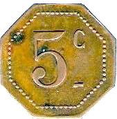 5 Centimes - Dépot de Prisonniers de Sédières (Clergoux) – reverse