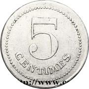 5 Centimes - POW camp (Etampes) – reverse