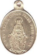 Token - Sacred Heart of Jesus – reverse