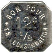12½ Centimes - Café Durand Jean - La Fouillouse [42] -  obverse