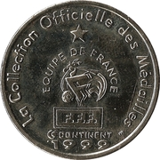 Token - Federation Francaise de Football - Continent Equipe de France (Deschamps) -  reverse