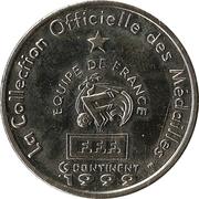 Token - Federation Francaise de Football - Continent Equipe de France (Thuram) -  reverse