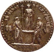 Token - Quinaire of the Coronation of the Emperor – reverse