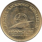 Official Licensed Medallion - France 98 World Cup (South Africa) -  obverse