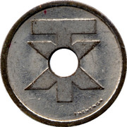 Telephone Token - Teletax (with a round hole) – reverse