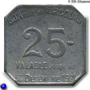 25 Centimes - Région Parisienne 75 TCRP – reverse