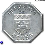 Bon pour une section - Seconde classe - Tramways de Rouen 76 – obverse