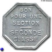 Bon pour une section - Seconde classe - Tramways de Rouen 76 – reverse