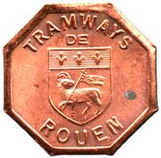 Token - Tramways de Rouen (Bon pour une section - Banlieue) – obverse