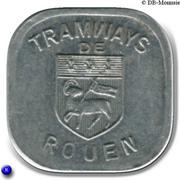 Bon pour une section - Seconde classe - Tramways de Rouen [76] – obverse