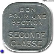 Bon pour une section - Seconde classe - Tramways de Rouen [76] – reverse