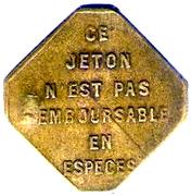 Bon pour un trajet de 25 Centimes OTL Lyon [69] – obverse